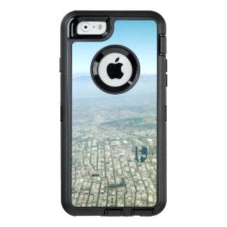 Antennen beskådar av staden, fågel öga beskådar OtterBox iPhone 6/6s fodral