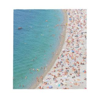 Antennen beskådar av stranden i Nice, frankrike Anteckningsblock