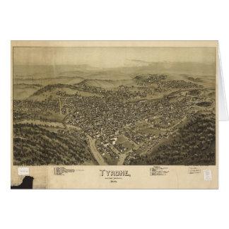 Antennen beskådar av Tyrone, Pennsylvania (1895) Hälsningskort