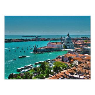 Antennen beskådar av Venedig, italien Fototryck