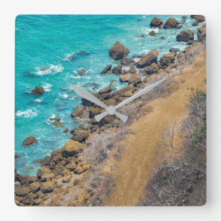 Antennen beskådar Stilla havkusten Puerto Lopez Fyrkantig Klocka