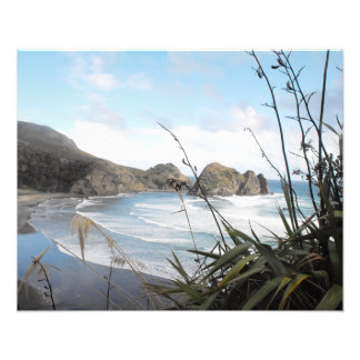 Antennen beskådar till södra den nyazeeländska fototryck