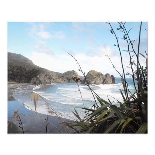 Antennen beskådar till södra den nyazeeländska Pih Konstfoto