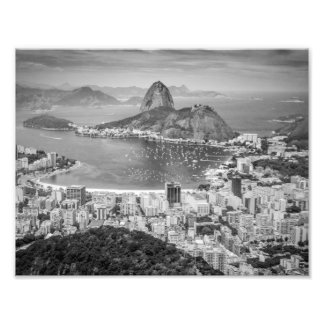 Antennen för B&W Rio de Janeiro beskådar Fototryck