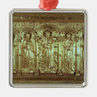 Antependium som visar Kristus med oljedoseringarna Silverfärgad Fyrkantigt Julgransprydnad