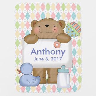 Anthonys bra gåvor för personlig för bebisfilt