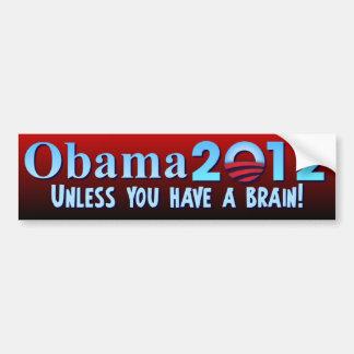 Anti Barack Obama - hjärna Bildekal