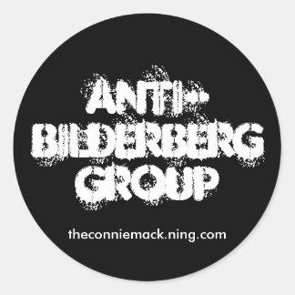 Anti-Bilderberg klistermärke II