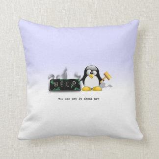 Anti dagsljusbesparing Time för rolig pingvin Kudde