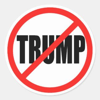 Anti Donald Trump 2016 rundavalklistermärkear Runt Klistermärke