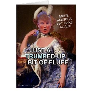 Anti Donald Trump Marie Antoinette val 2016 Hälsningskort
