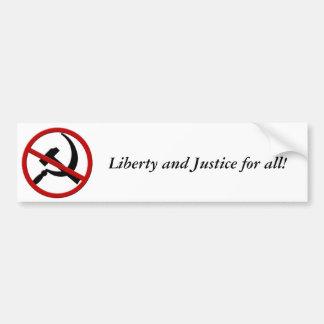 Anti-Kommunism, frihet och rättvisa för alla! Bildekal