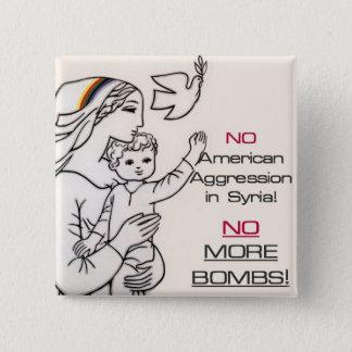 Anti-krig Syrien knäppas Standard Kanpp Fyrkantig 5.1 Cm