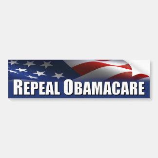 Anti Obama - avskaffande OBAMACARE Bildekal