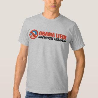 Anti-Obama bildekal - blomstrad Socialism Tshirts