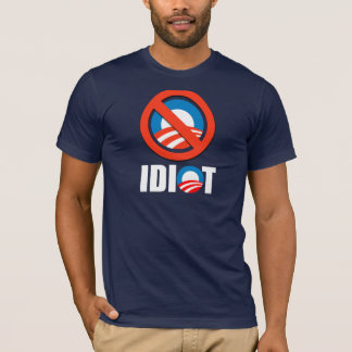 Anti-Obama bildekal - OBAMA ÄR EN IDIOT Tee