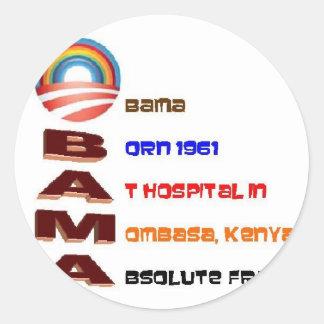 Anti Obama Collectibles Runt Klistermärke