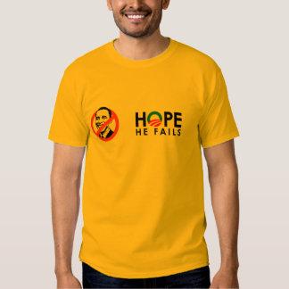 Anti-Obama - hopp misslyckas han svart Tee Shirts