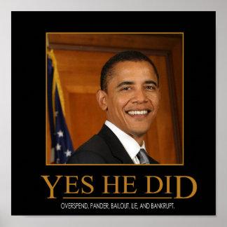 Anti Obama ja gjorde han den Demotivational Poster