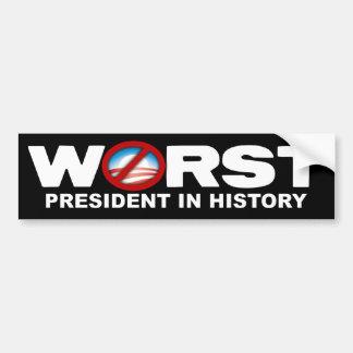 Anti Obama - värst president i historia Bildekal
