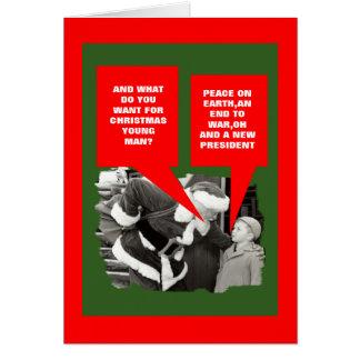 Anti presidentObama jul Hälsningskort