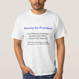Anti Romney för T-tröja för president (dop Tee Shirts
