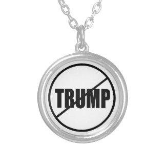 Anti trumf ingen trumfanpassningsbar Donald Trump Silverpläterat Halsband