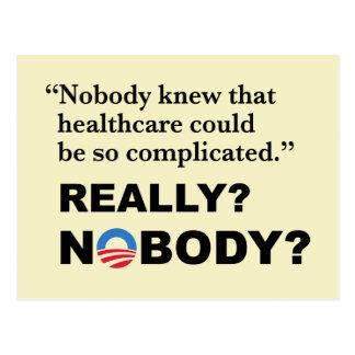 Anti-Trumf Obamacare vykort