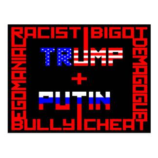 Anti trumf+Putin Vykort