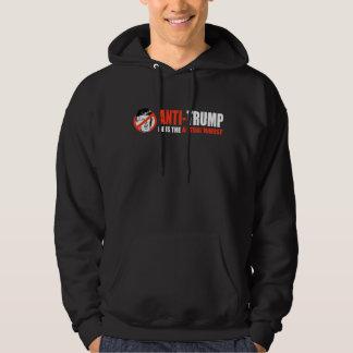 ANTI-TRUMP - Han är den faktiska värst - - .pngen Sweatshirt Med Luva
