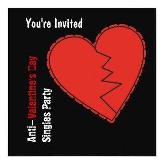 Anti-Valentin inbjudan för dagparty