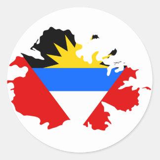 Antigua flaggakarta runt klistermärke