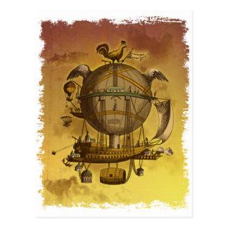 Antik ballong vykort