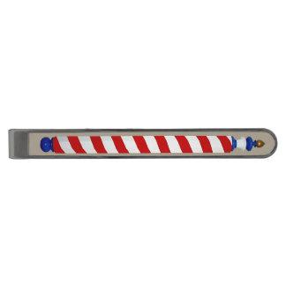 Antik barberare Pole Stålgrå Pläterad Slipsnål