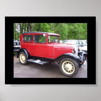 Antik bil poster