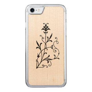 Antik blom- krusidull carved iPhone 7 skal
