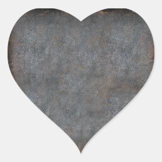 Antik bok för slitet läder hjärtformat klistermärke