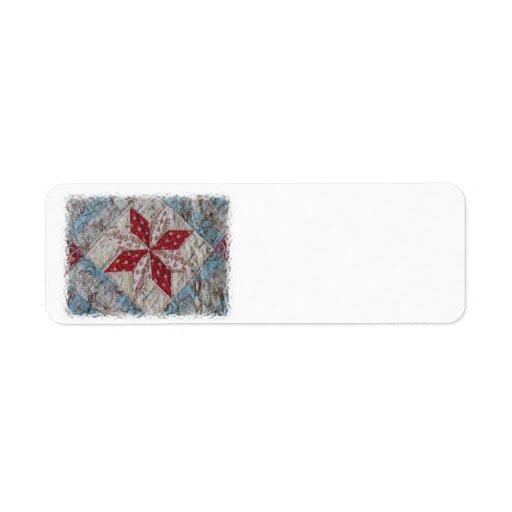 Antik ETIKETT för täckesamlareADRESS Returadress Etikett