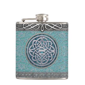 Antik flaska för fnurra för snöre- och silverdekor fickplunta