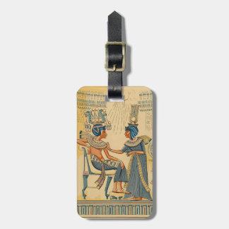 Antik forntida egyptisk royalty för vintage bagagebricka