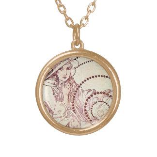 Antik kärlek guldpläterat halsband
