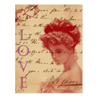 Antik kärlekbrevvykort vykort