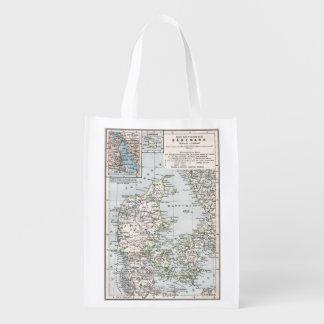 Antik karta av Danmark, Danmark i Danska, 1905 Återanvändbar Påse