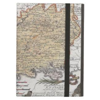 Antik karta av sydliga England, Devon, Cornwall iPad Air Fodral