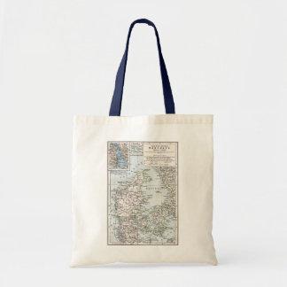 Antik karta för danska av Danmark, Danmark Tote Bags