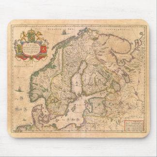 Antik karta för vintage av den gammala musmatta