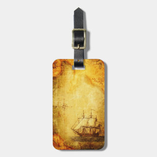 Antik karta & frakt luggage tag