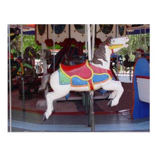 Antik karusellhäst vykort