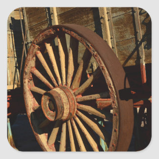 Antik muletågvagn fyrkantigt klistermärke