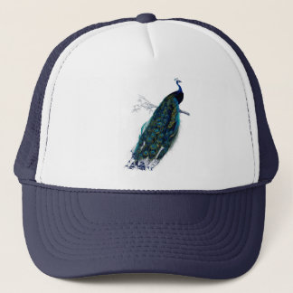 Antik naturhistoriatryckpåfågel keps